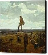 Defiance - Inviting A Shot Before Petersburg Canvas Print by Winslow Homer