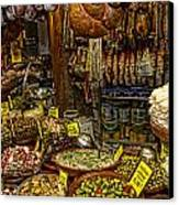 Deli In Palma De Mallorca Spain Canvas Print by David Smith