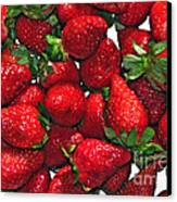 Deliciously Sweet Strawberries Canvas Print by Kaye Menner