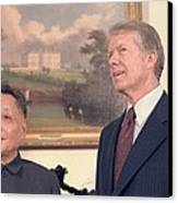 Deng Xiaoping And Jimmy Carter Canvas Print