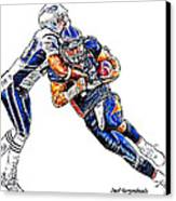 Denver Broncos Tim Tebow - New England Patriots Rob Ninkovich Canvas Print by Jack K