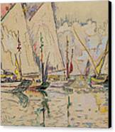 Departure Of Tuna Boats At Groix Canvas Print