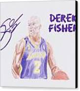Derek Fisher Canvas Print by Toni Jaso