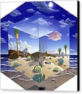 Desert On My Mind Canvas Print by Snake Jagger