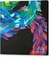 Detail - Kukulkan Canvas Print by Mitza Hurst