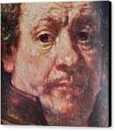 Detail From Portrait Of The Artist Rembrandt Canady Portfolio 9 Canvas Print