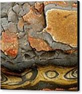 Detail Of Eroded Rocks Swirled Canvas Print