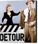 Detour, From Left Ann Savage, Tom Neal Canvas Print by Everett