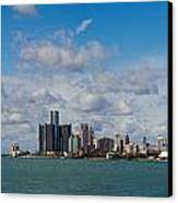 Detroit Michigan Skyline Canvas Print by Twenty Two North Photography