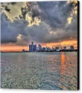 Detroit Sunset  Canvas Print