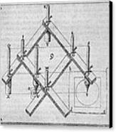 Diagram Of A Pantograph Canvas Print