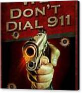 Dial 911 Canvas Print by JQ Licensing
