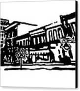 Dickson Street In Fayetteville Ar Canvas Print