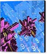 Digital Communication, Conceptual Image Canvas Print