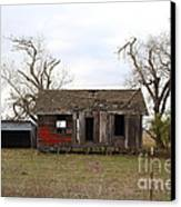 Dilapidated Old Farm House . 7d10341 Canvas Print by Wingsdomain Art and Photography