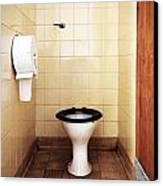 Dirty Public Toilet Canvas Print by Richard Thomas