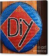Do It Yourself Sign On Basket Canvas Print