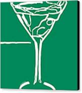 Do Not Panic - Drink Martini - Green Canvas Print