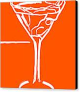Do Not Panic - Drink Martini - Orange Canvas Print