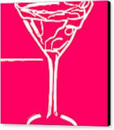 Do Not Panic - Drink Martini - Pink Canvas Print