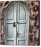 Door In Santorini Canvas Print