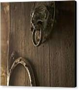 Door Knocker Of The Basilica Saint-julien. Brioude. Haute Loire. Auvergne. France. Canvas Print