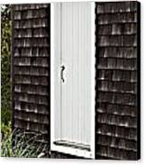 Doorway With Daisies Canvas Print by Michelle Wiarda