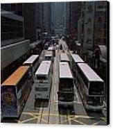 Double Decker Buses In The Streets Canvas Print