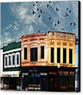 Downtown Bryan Texas Panorama 5 To 1 Canvas Print