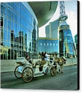 Downtown Nashville Iv Canvas Print by Steven Ainsworth
