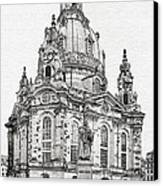 Dresden's Church Of Our Lady - Reminder Of Peace Canvas Print