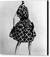 Dress By Pauline Trigere. Short Canvas Print