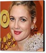 Drew Barrymore At The After-party Canvas Print