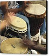 Drummers Of Varied Backgrounds Join Canvas Print by Stephen St. John