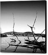 Dryden Lake New York Canvas Print by Paul Ge