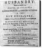 Du Monceau: Title Page Canvas Print