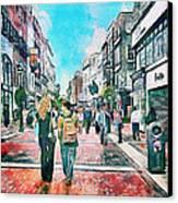 Dublin Grafton Street Canvas Print