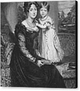 Duchess Of Kent & Victoria Canvas Print