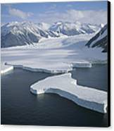 Dugdale And Murray Glaciers Antarctica Canvas Print by Tui DeRoy