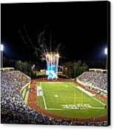 Duke Fireworks At A Packed Wallace Wade Stadium Canvas Print