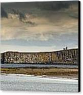 Dunstanburgh Castle On A Hill Under A Canvas Print