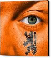 Dutch Lion - Coat Of Arms Canvas Print by Semmick Photo