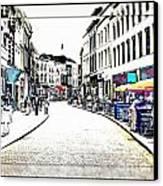 Dutch Shopping Street- Digital Art Canvas Print by Carol Groenen