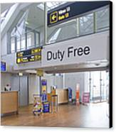 Duty Free Shop At An Airport Canvas Print