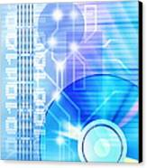 Dvd Media Canvas Print