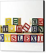 Dyslexia Canvas Print by Photo Researchers, Inc.