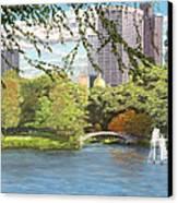 Early Color On Esplanade Canvas Print