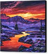 Early Morning Frost Canvas Print by David Lloyd Glover
