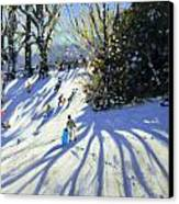 Early Snow Darley Park Canvas Print by Andrew Macara