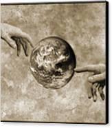 Earth's Creation Canvas Print by Detlev Van Ravenswaay